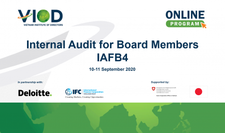 """VIOD's first virtual Governance Excellence Program, the Internal Audit for Board Program (IAFB4) was organized to adjust to the """"new normal"""""""